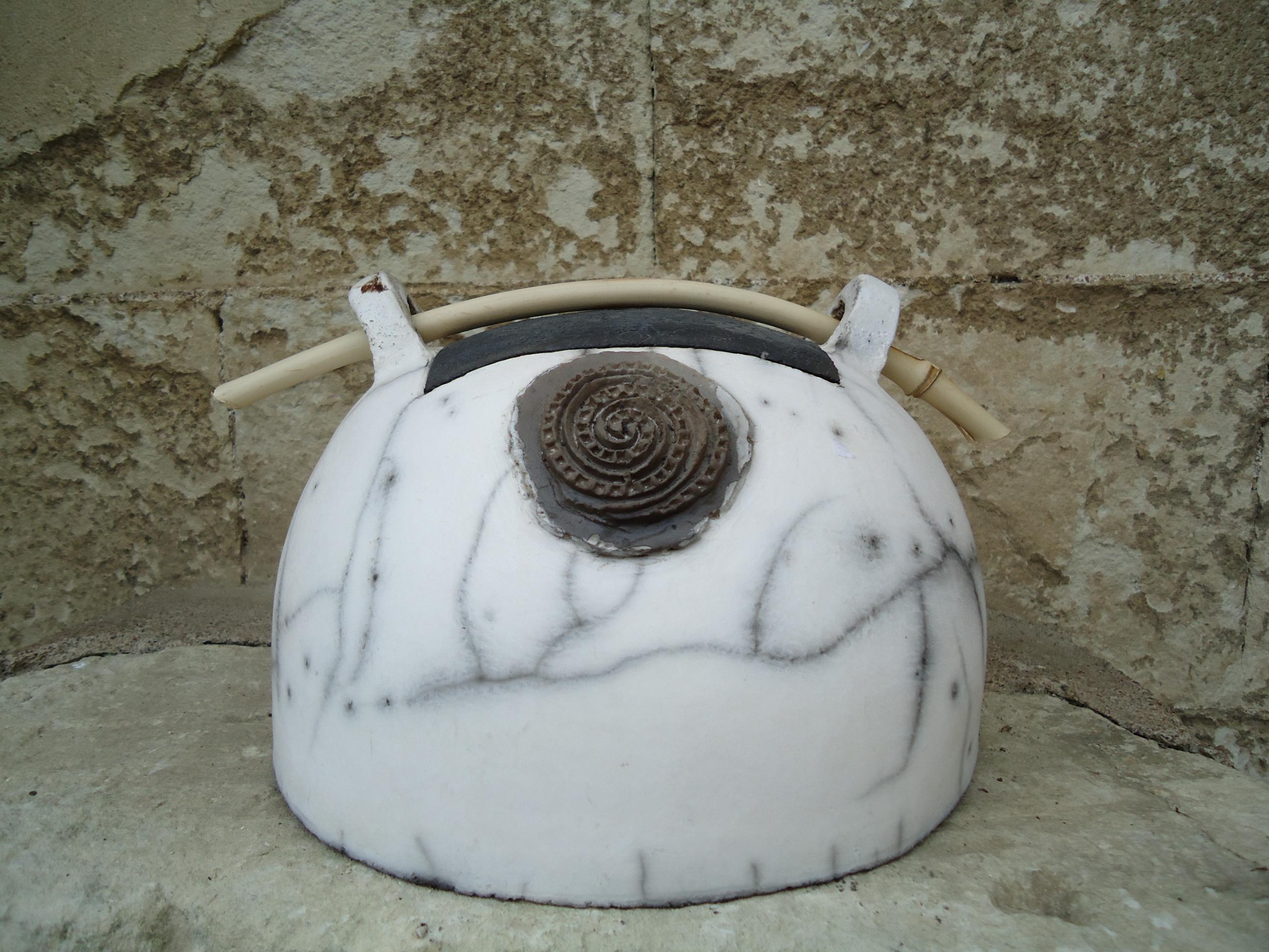 boite à thé raku nu blanc